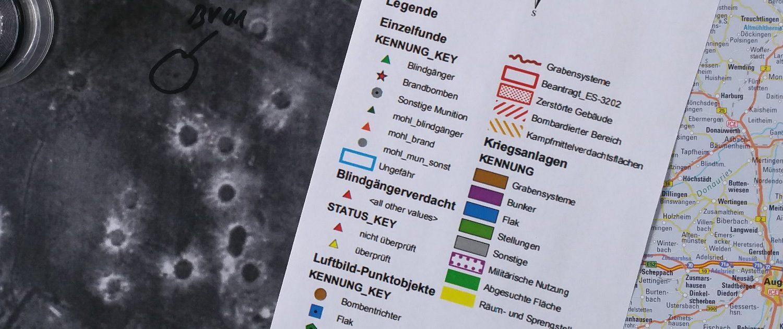 Historische Erkundung, Luftbildauswertung ,Beschaffung von Luftbildern Auswerten der Luftbilder Kategorisieren der Befunde Ergebniskartierung Georeferenzierung der Befunde Bestandsbeschreibung Literaturrecherche Handlungsempfehlungen